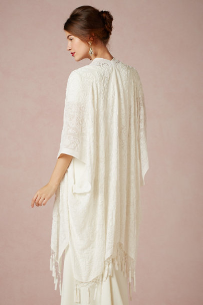 Kite and Butterfly ivory Loiret Cape | BHLDN