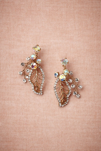 gold Floriculture Earrings | BHLDN