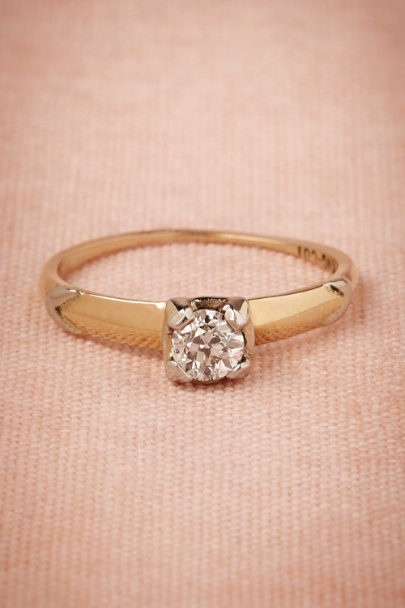 yellow gold Deco Diamond Ring | BHLDN