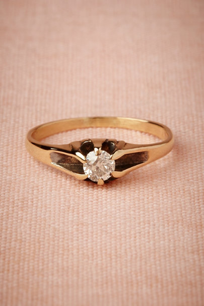 yellow gold Florence Ring | BHLDN
