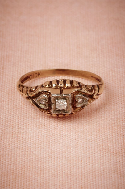 yellow gold Two Hearts Ring | BHLDN