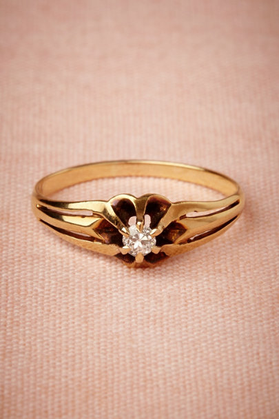 yellow gold Bessie Ring | BHLDN