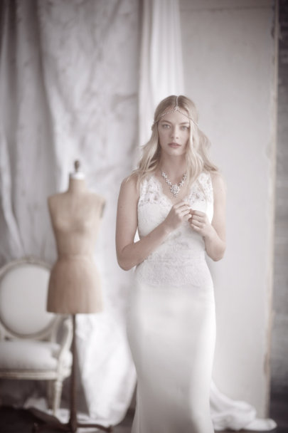 Badgley Mischka cream Odessa Gown | BHLDN