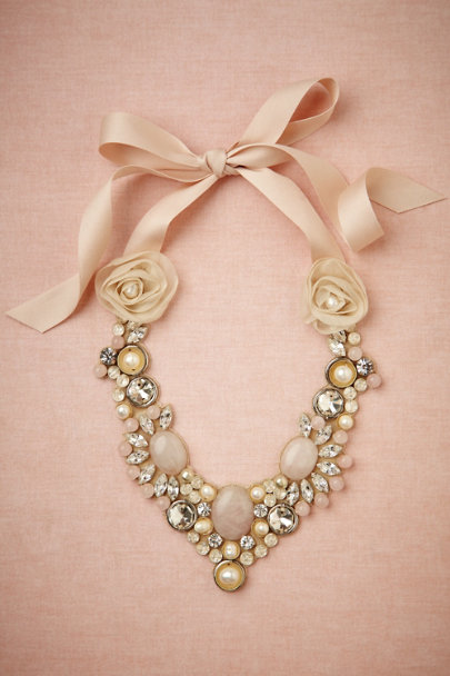 Ranjana Khan rose quartz Rose Trove Necklace | BHLDN