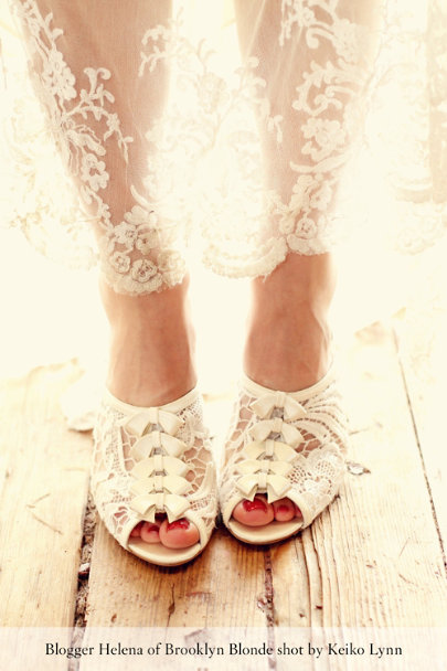 ivory Belle Époque Heels | BHLDN