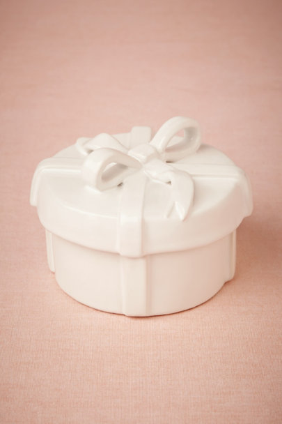 white Giftbox Trinket Dish | BHLDN