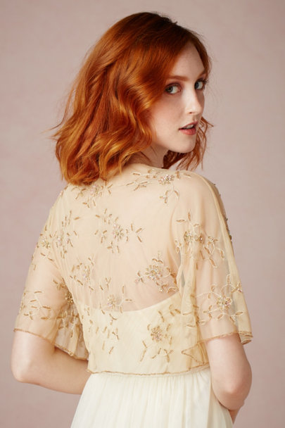 gold Petal-Strewn Cover Up | BHLDN