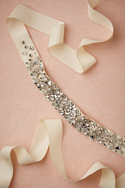 ivory Monsoon Sash | BHLDN