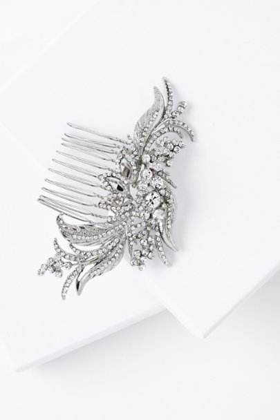 silver Louisa Hair Comb | BHLDN