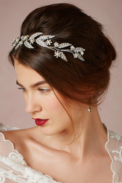 Debra Moreland crystal Lady-of-the-Manor Headpiece | BHLDN