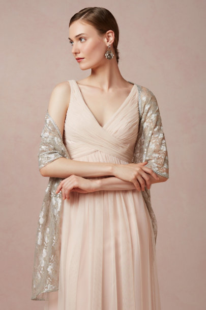 silver Sterling Lace Wrap | BHLDN