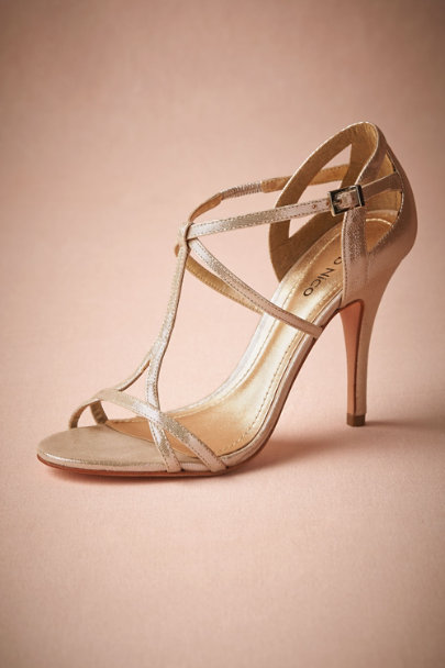 champagne Addison Heels | BHLDN