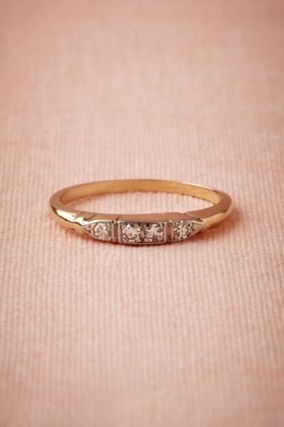yellow gold Fannie Diamond Band | BHLDN