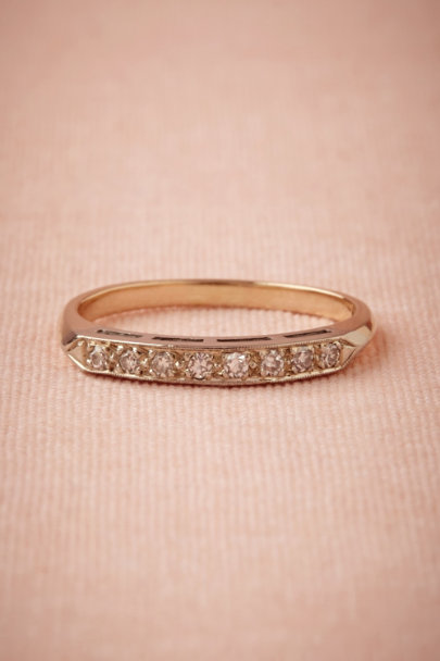 yellow gold Viola Diamond Band | BHLDN