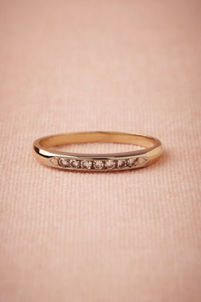 yellow gold Mackenzie Diamond Band | BHLDN