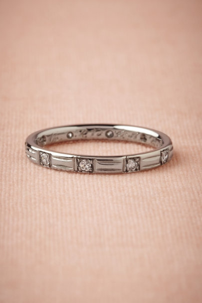 white gold Engraved Eternity Band | BHLDN