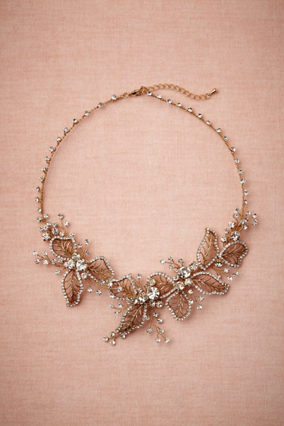 gold Floriculture Necklace | BHLDN