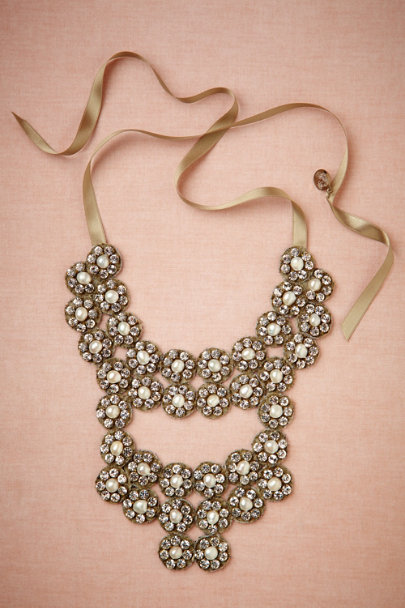 BEIGE Glinted Flora Necklace | BHLDN