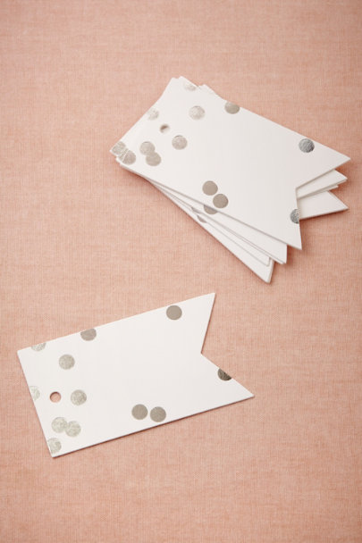 Sugar Paper silver Confetti Tags | BHLDN