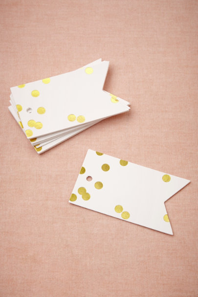 Sugar Paper gold Confetti Tags | BHLDN