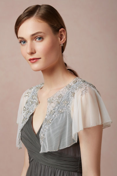 silver Mercury Bloom Capelet | BHLDN