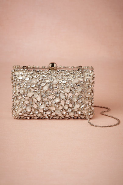silver Crystallography Box Clutch | BHLDN
