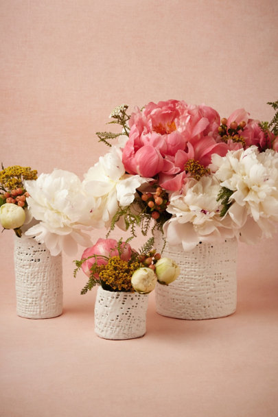 white Gauze-Wrapped Vases | BHLDN
