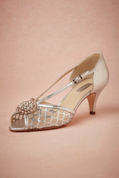 silver Roxie Heels | BHLDN