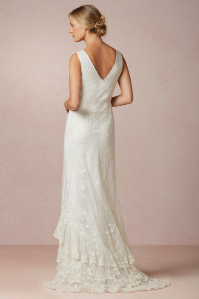 Candela cream Madeline Gown | BHLDN