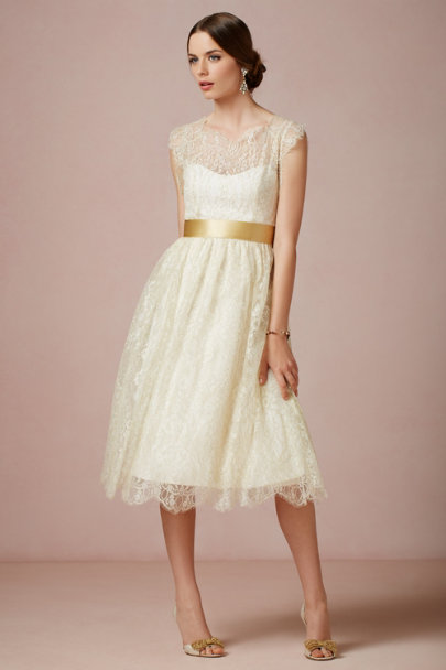 James Coviello gold Queen Anne Dress | BHLDN