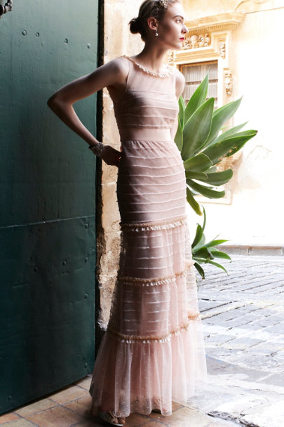 nude Swansdown Dress | BHLDN