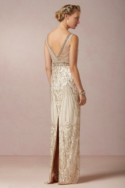 champagne Maxine Gown | BHLDN