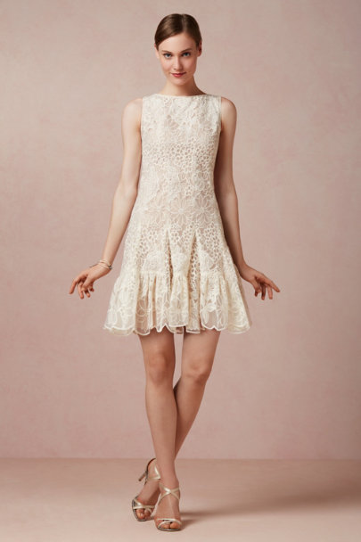 Anna Sui ivory Francie Organza Dress | BHLDN