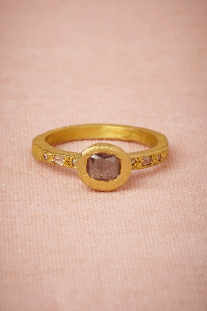 yellow gold Rosa Diamond Ring | BHLDN