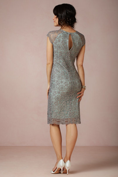 teal Shined Lace Shift | BHLDN