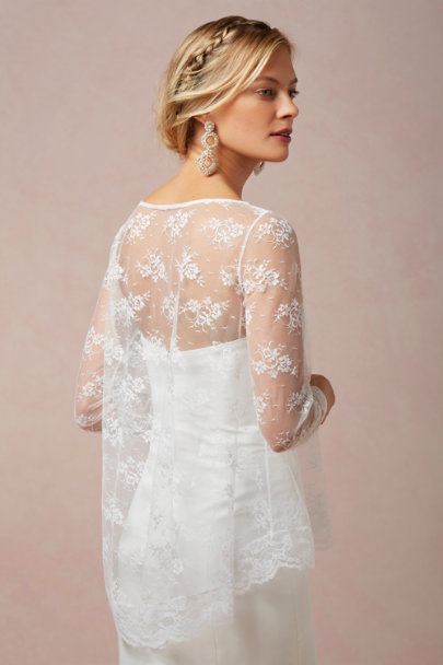 ivory Orlaya Lace Topper | BHLDN