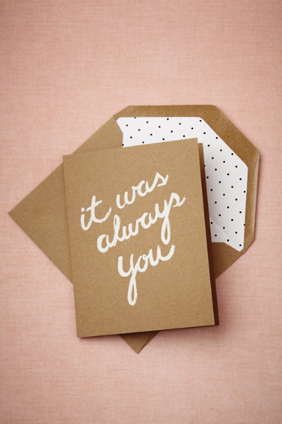 Sugar Paper natural It Was Always You Card | BHLDN