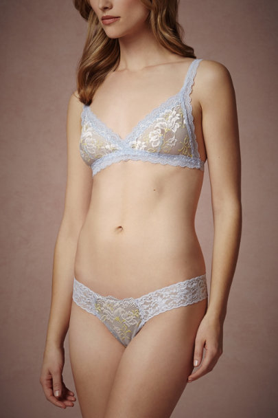 blue motif Skyblue Belle Thong | BHLDN