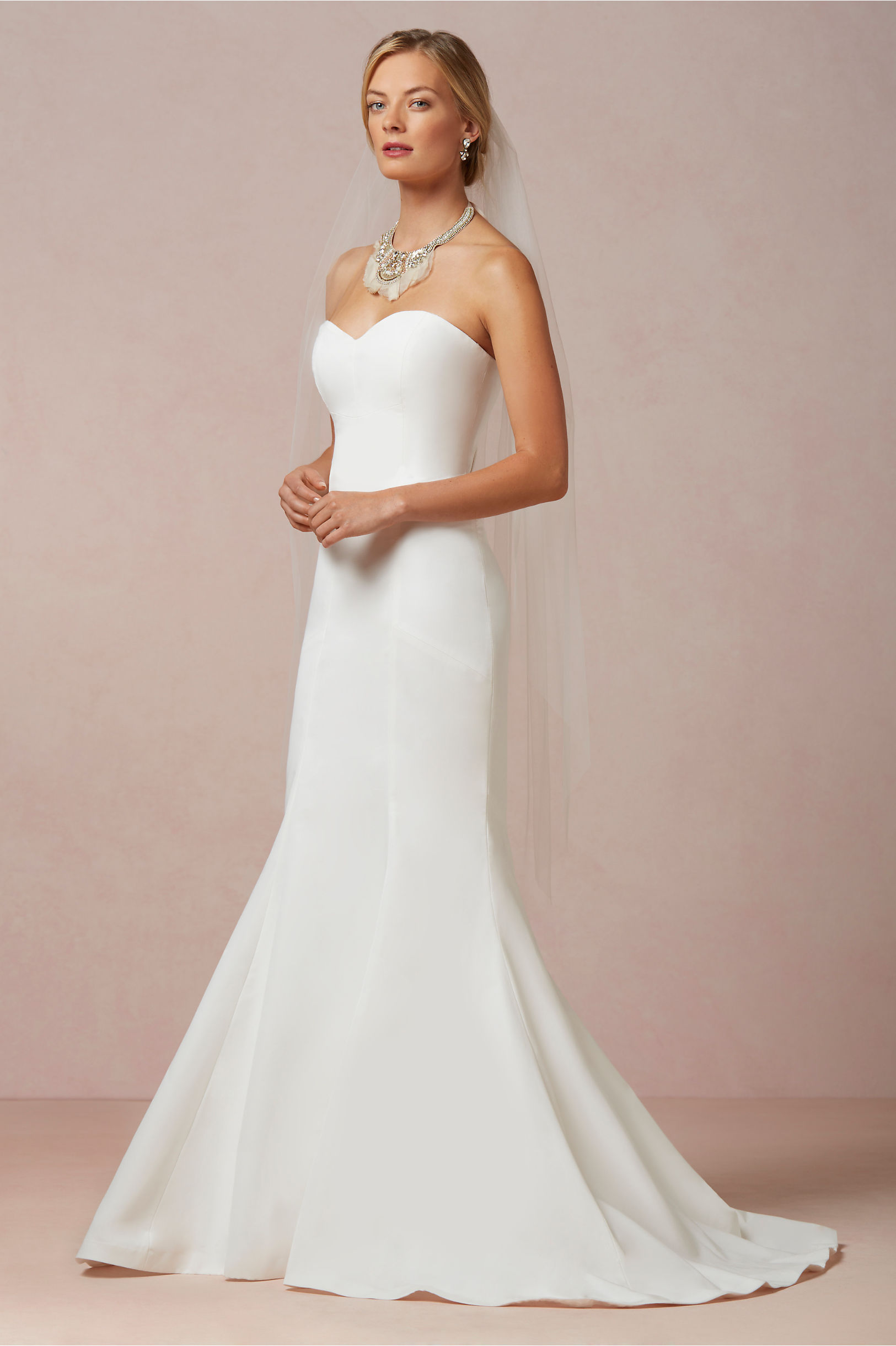 Plain Strapless Wedding Dresses