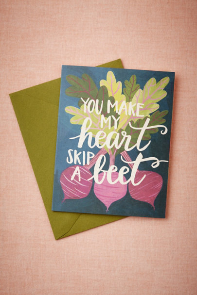 green Skip A Beet Card | BHLDN