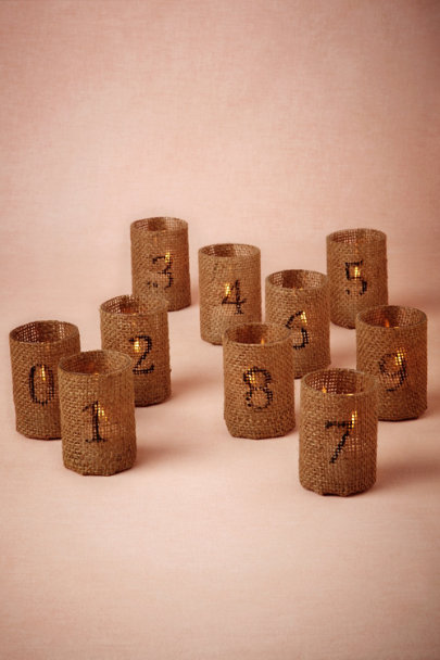 natural Love Counts Burlap Votive | BHLDN