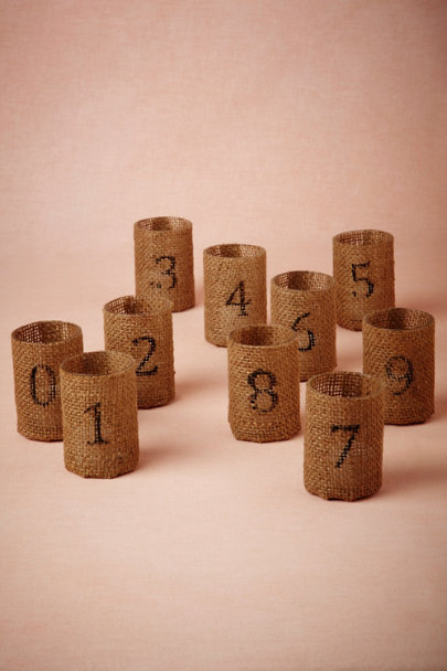 Love Counts Burlap Votive