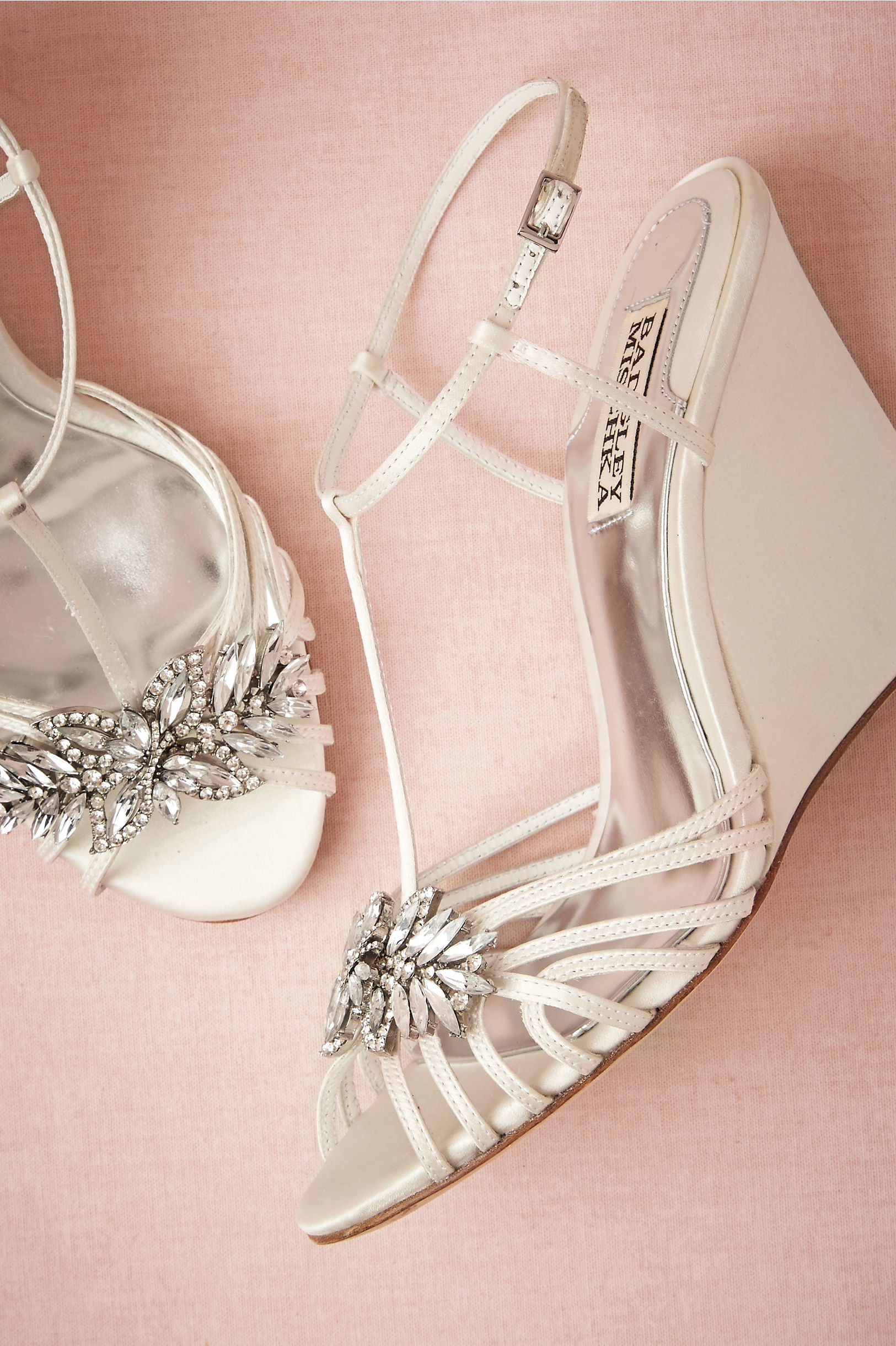 badgley mischka ivory gigi wedge bhldn