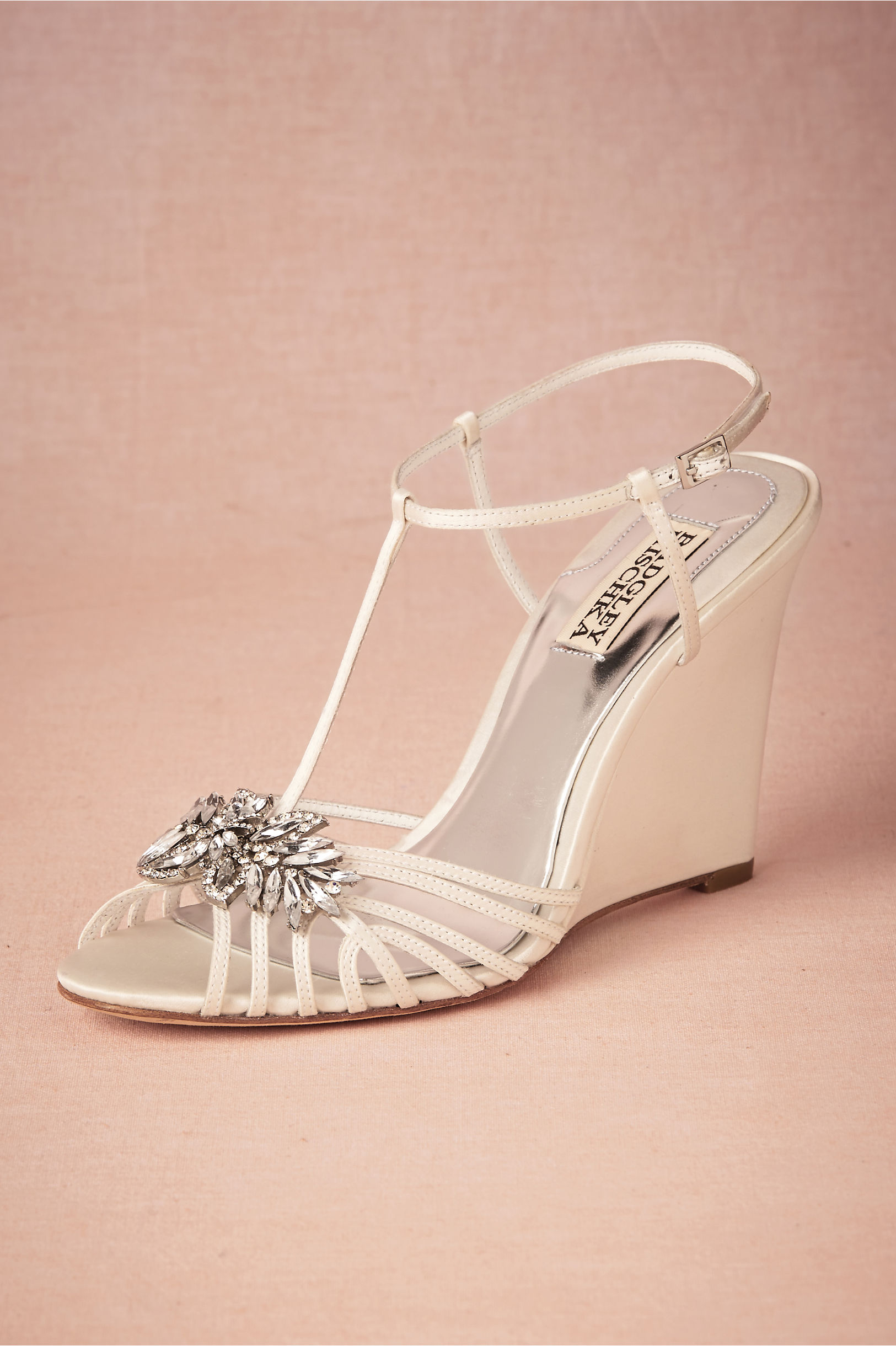gigi wedge wedding shoes wedges Badgley Mischka ivory Gigi Wedge BHLDN