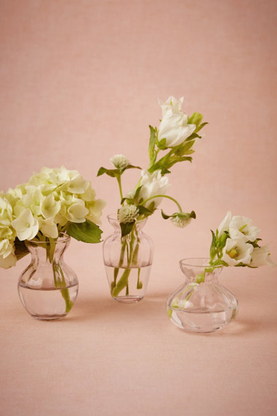 clear Sundae Bud Vase Trio | BHLDN