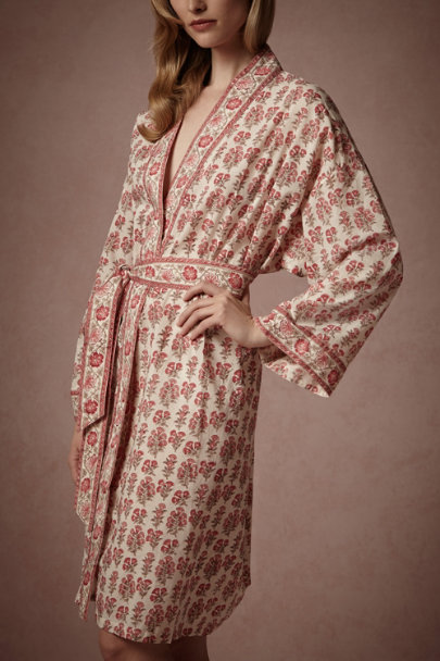 Salmon Trumpet Clover Robe | BHLDN
