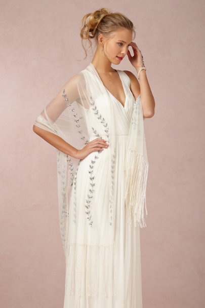 Ben-Amun silver Deco Tower Drops | BHLDN