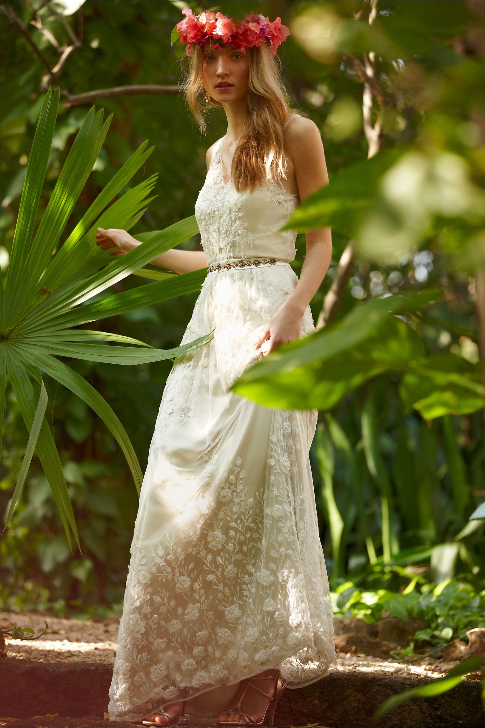Fine Sian Gown Bhldn Festooning - Wedding and flowers ispiration ...