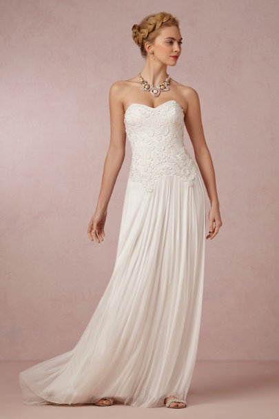Catherine Deane ivory Tiffany Gown | BHLDN