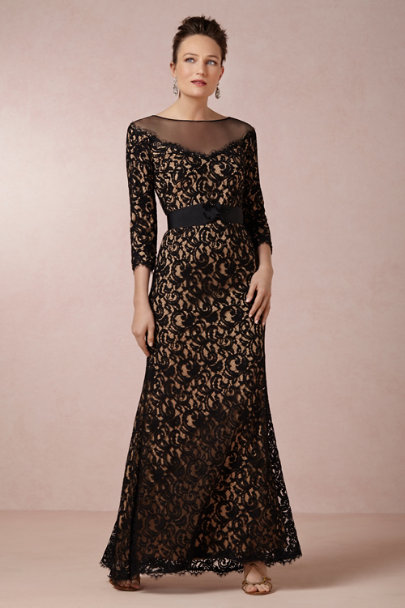 black/nude Fine Points Dress | BHLDN